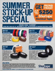 Shurtape Electrical Tape Promotion TN